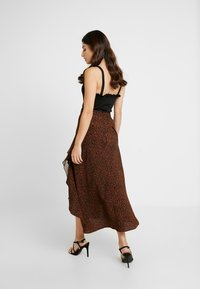 Topshop Petite - LEOPARD RUFFLE MIDAXI - A-snit nederdel/ A-formede nederdele - multi - 2