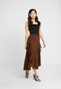 Topshop Petite - LEOPARD RUFFLE MIDAXI - A-snit nederdel/ A-formede nederdele - multi - 1