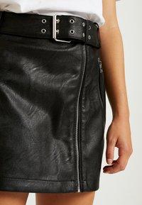 Topshop Petite - HARDWEAR DETAIL - A-snit nederdel/ A-formede nederdele - black - 4