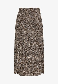 Topshop Petite - LEO CRYSTAL PLEAT - Gonna a campana - brown - 3
