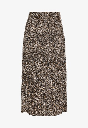 LEO CRYSTAL PLEAT - A-line skirt - brown