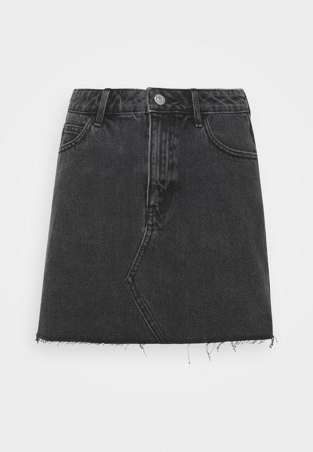 Denimová sukně - washed black