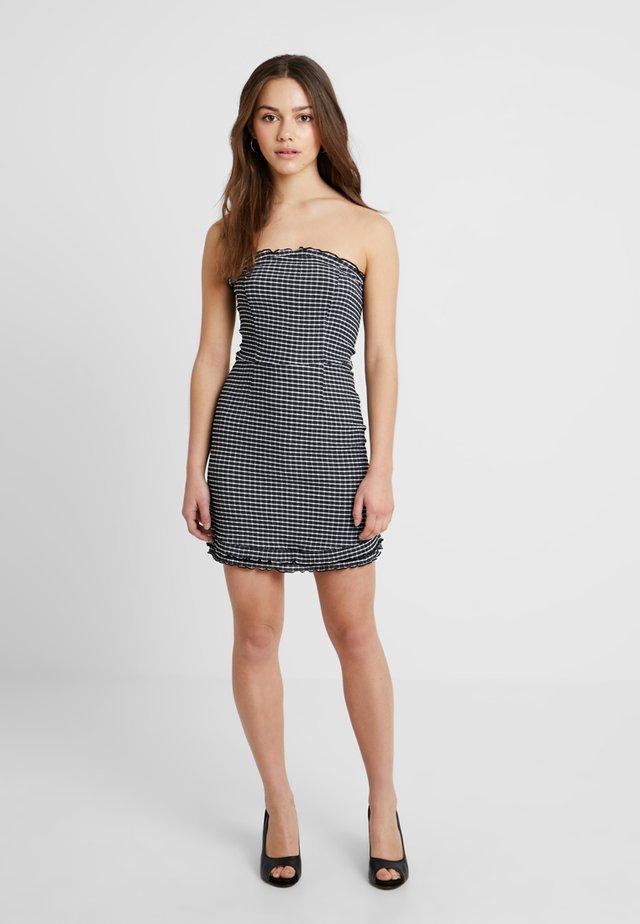 CHECK BANDEAU MINI - Sukienka letnia - black/white