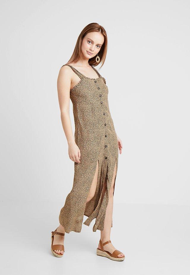SPOT SPLIT FRONT  - Maxi dress - tan
