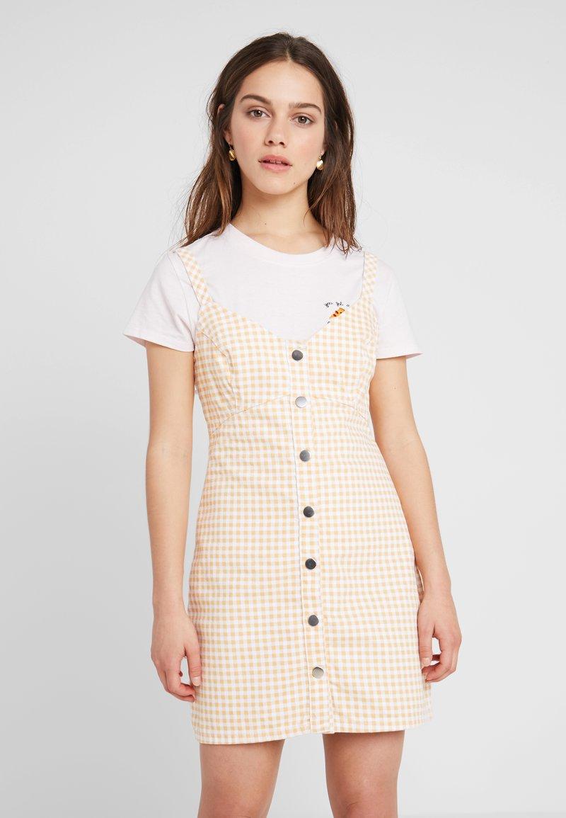 Topshop Petite - Blusenkleid − gelb