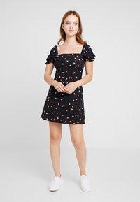 Topshop Petite - MINI SQUARE NECK DRESS - Denní šaty - multi-coloured - 1
