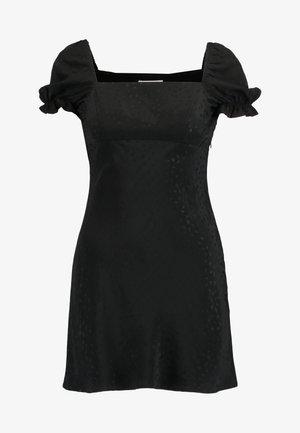SQUARE NECK MINI - Robe d'été - black