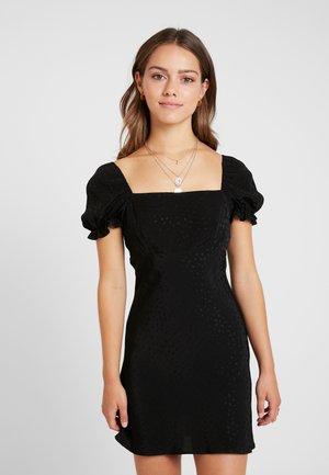 SQUARE NECK MINI - Denní šaty - black