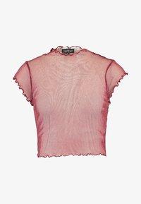 Topshop Petite - FLUTE SLEEVE - Camiseta estampada - burg - 3
