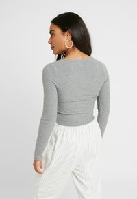 Topshop Petite - BUTTON THROUGH - Kardigan - grey - 2