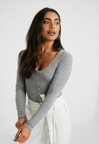 Topshop Petite - BUTTON THROUGH - Kardigan - grey - 0
