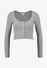 Topshop Petite - BUTTON THROUGH - Chaqueta de punto - grey - 4
