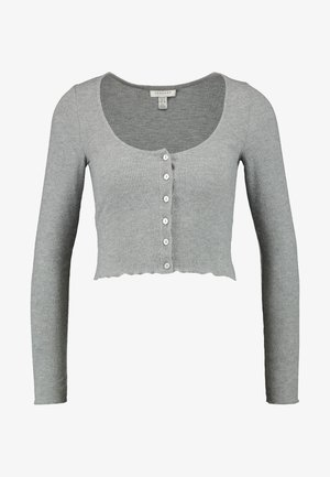 BUTTON THROUGH - Chaqueta de punto - grey
