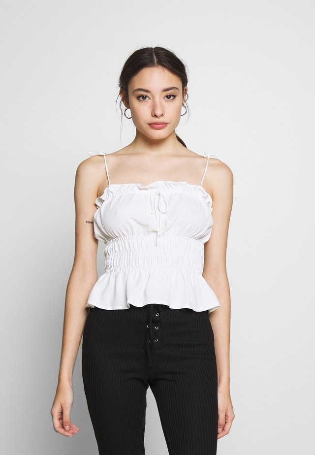 SHIRRED CASUAL CAMI - Débardeur - ivory