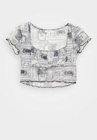 Topshop Petite - ASTRO RUCHED - Print T-shirt - mono - 3