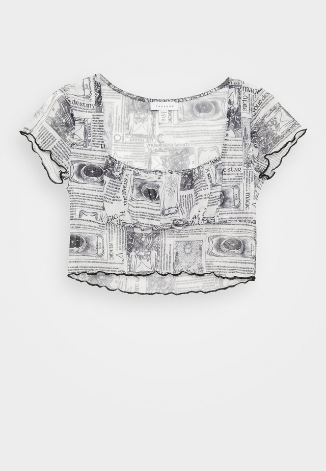 ASTRO RUCHED - Print T-shirt - mono