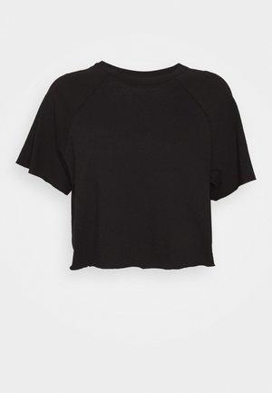 RAGLAN CROP TEE - T-Shirt basic - black