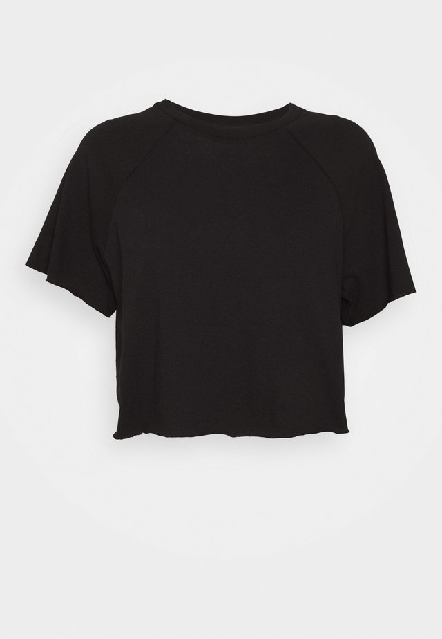 RAGLAN CROP TEE - Basic T-shirt - black