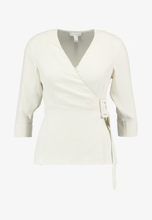BUCKLE WRAP BLOUSE - Blouse - ivory