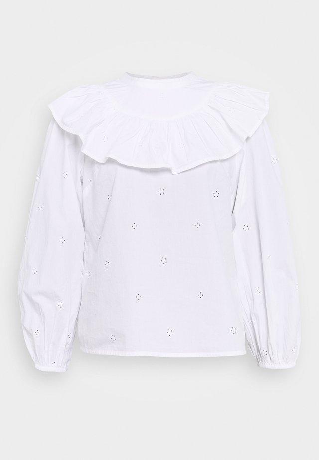 POPLIN YOKE PINTUCK - Bluser - white