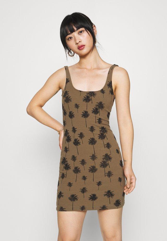 PALM PRINT TUNIC - Sukienka z dżerseju - khaki