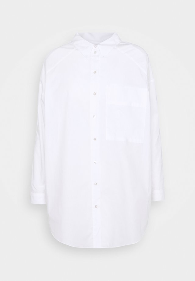 PLAIN - Button-down blouse - white