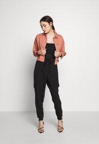 Topshop Petite - MISH - Denim jacket - pink - 1