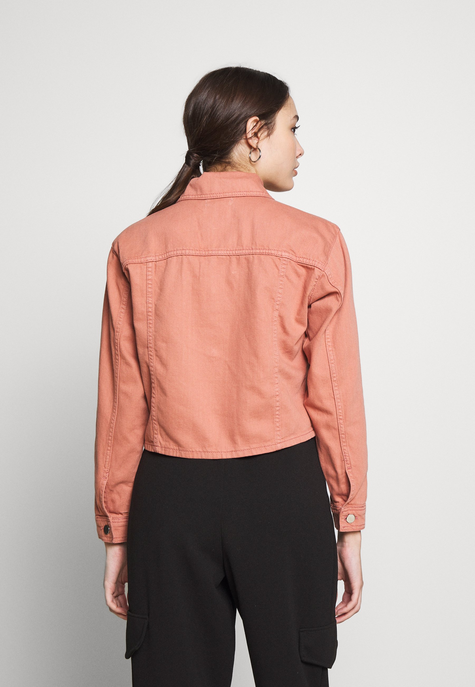 Topshop Petite MISH - Denim jacket - pink