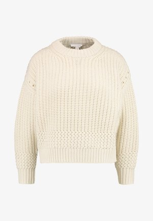 RECYCLED YARN STITCH - Sweter - offwhite