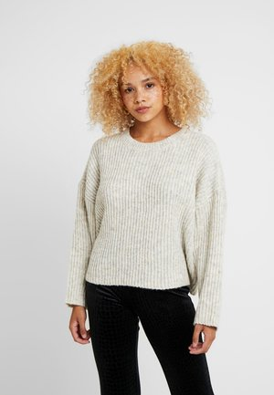ALL OVER HALF CREW - Pullover - oat