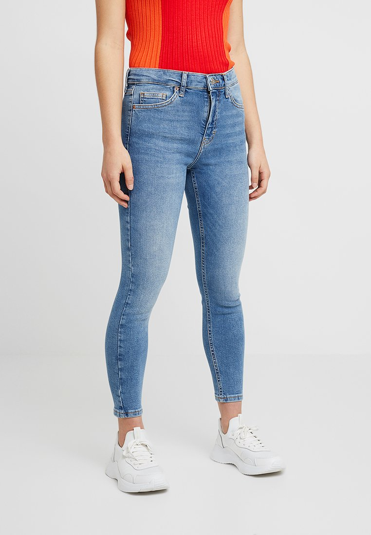 Topshop Petite - NEW WASH JAMIE - Jeans Skinny Fit - blue denim