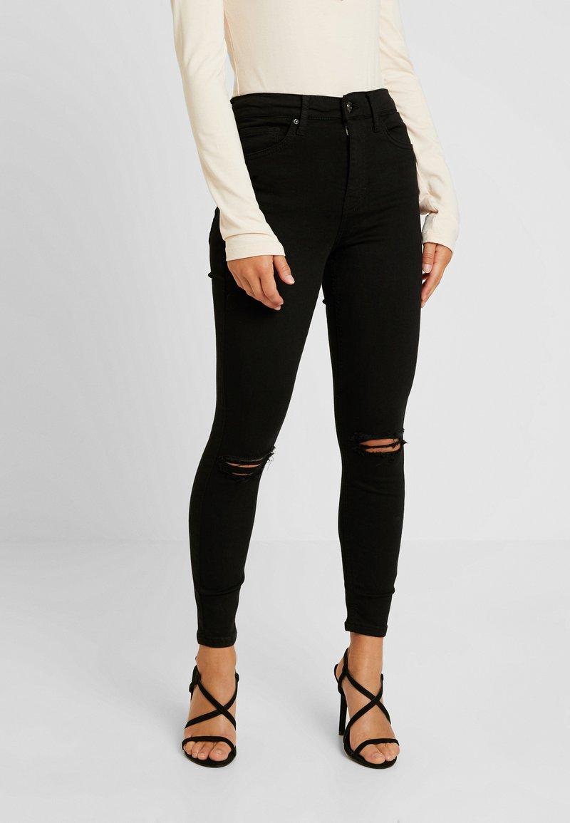 Topshop Petite - RIP JAMIE - Jeans Skinny Fit - black