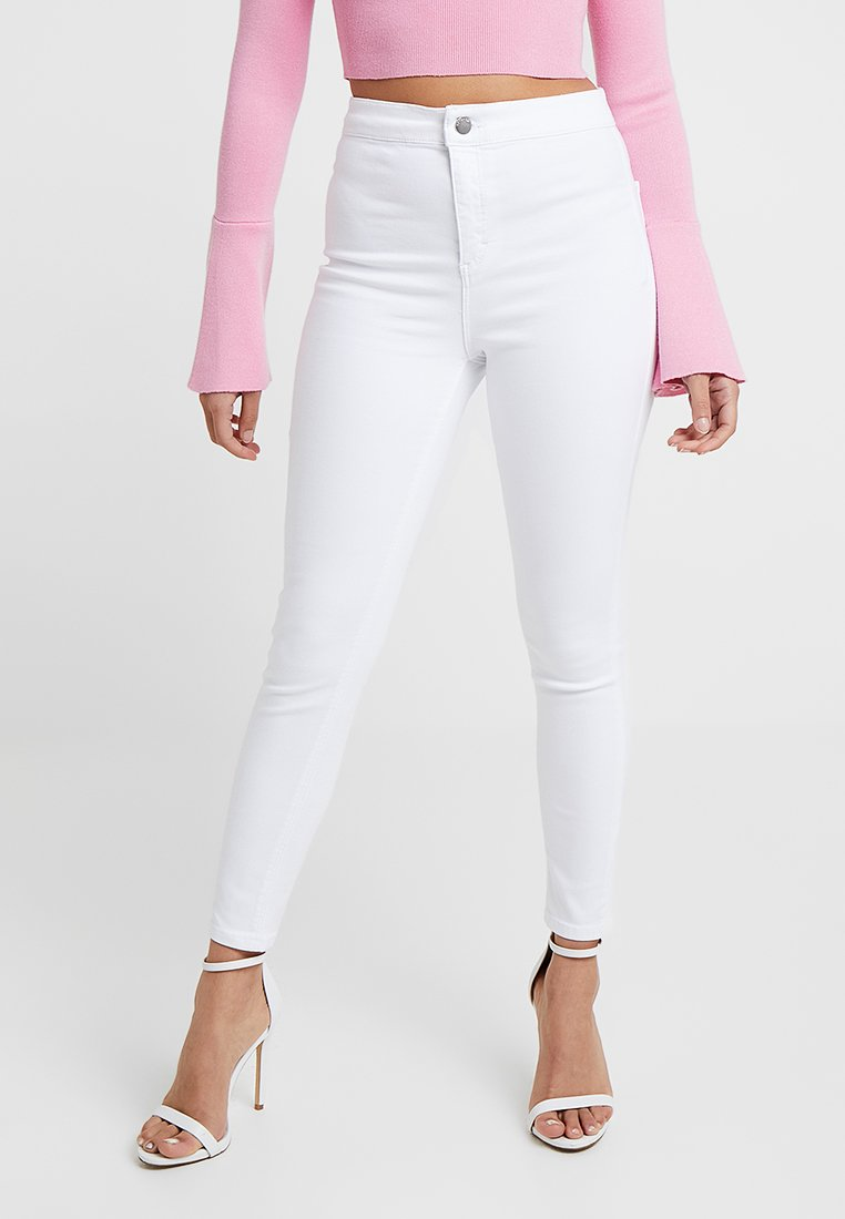 Topshop Petite - NEW WASH JONI - Jeans Skinny Fit - white