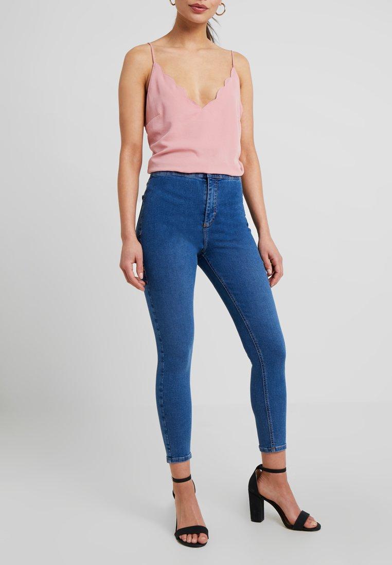Topshop Petite - NEW WASH JONI - Jeans Skinny Fit - blue denim