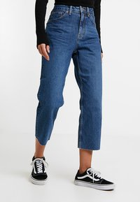 Topshop Petite - Straight leg jeans - blue denim - 0
