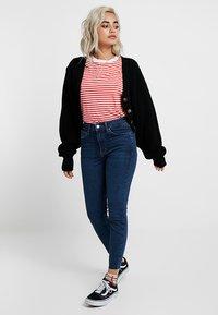 Topshop Petite - VINTAGE RAW HEM JAMIE             - Jeans Skinny Fit - indigo - 1