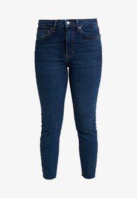 Topshop Petite - VINTAGE RAW HEM JAMIE             - Jeans Skinny Fit - indigo - 3