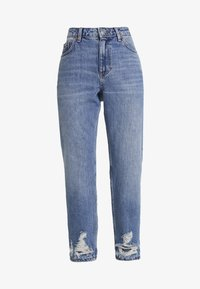 Topshop Petite - MOM    - Džíny Relaxed Fit - blue denim - 3
