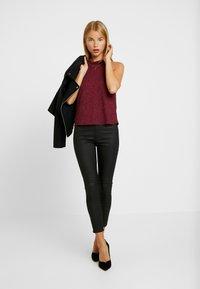 Topshop Petite - JONI - Trousers - black - 2