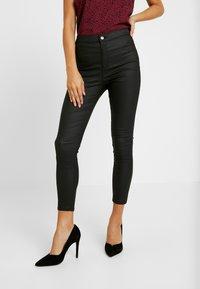Topshop Petite - JONI - Trousers - black - 0