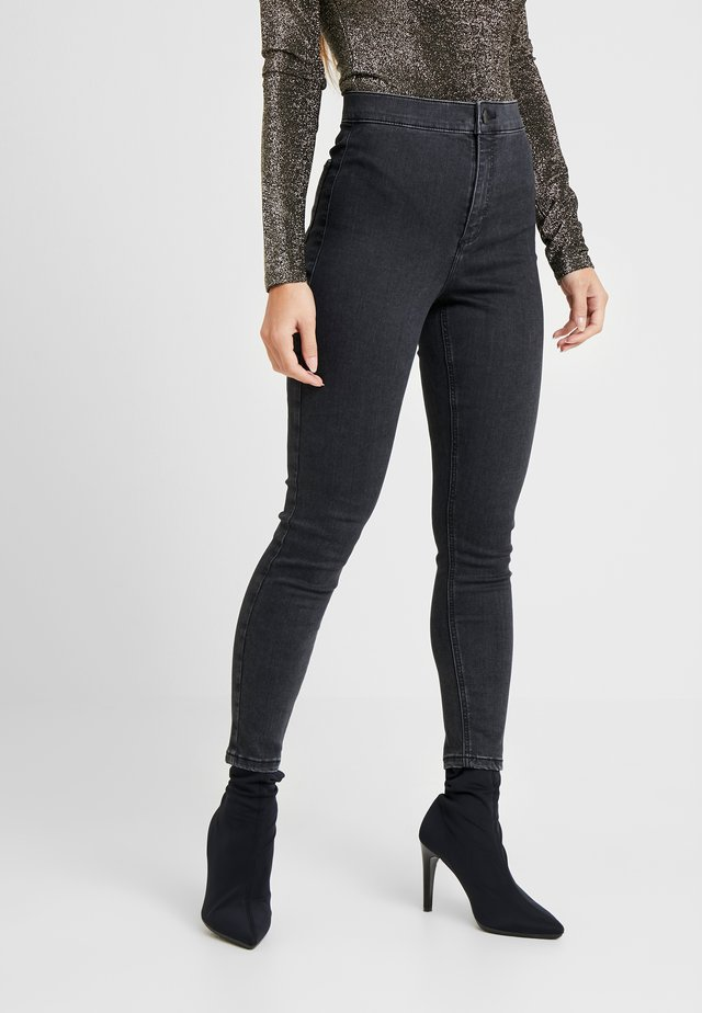 JONI CLEAN - Jeansy Skinny Fit - black