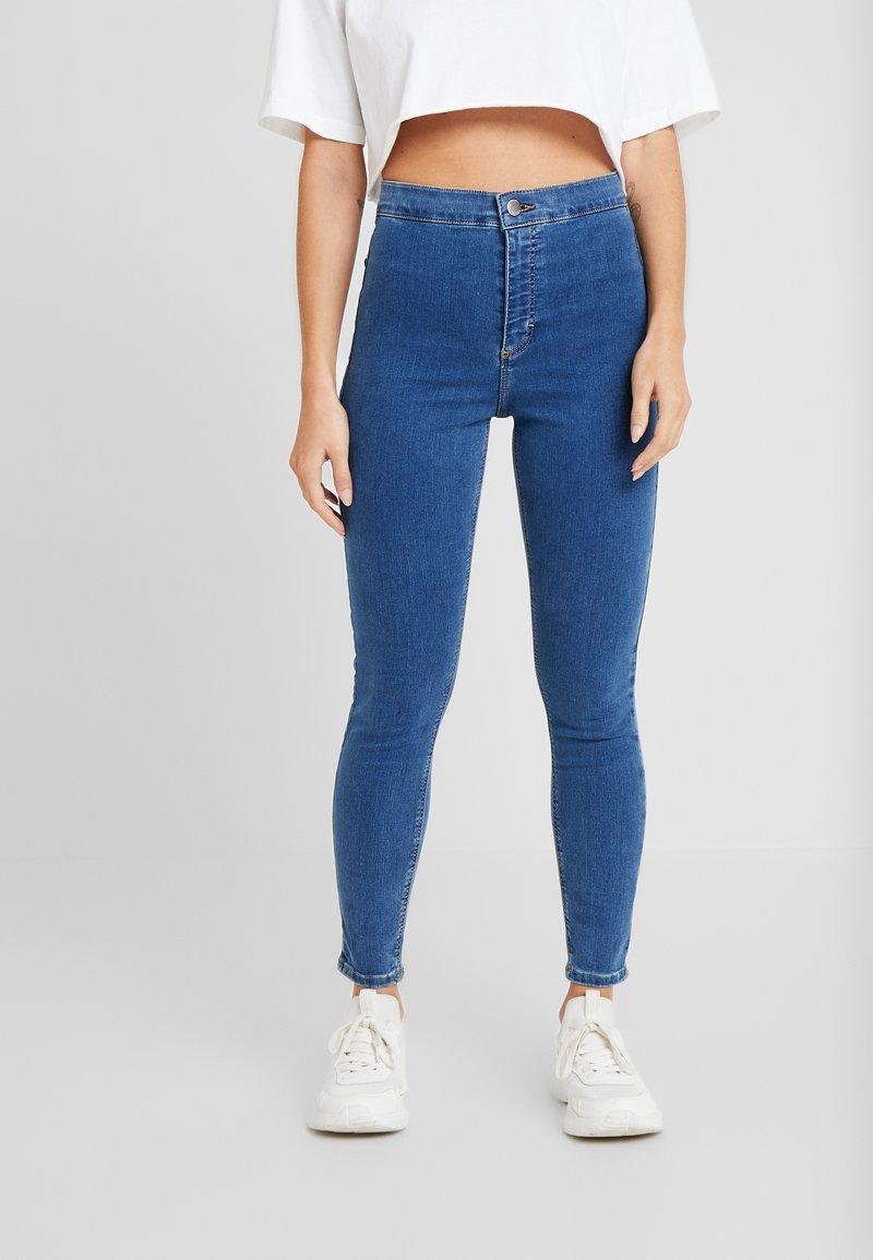 Topshop Petite - JONI CLEAN - Jeans Skinny Fit - blue denim