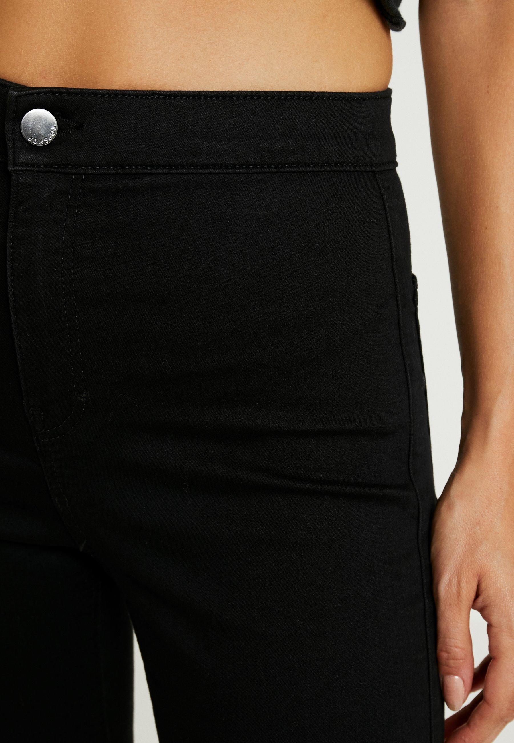 Topshop Petite Joni Clean - Jeans Skinny Fit Black