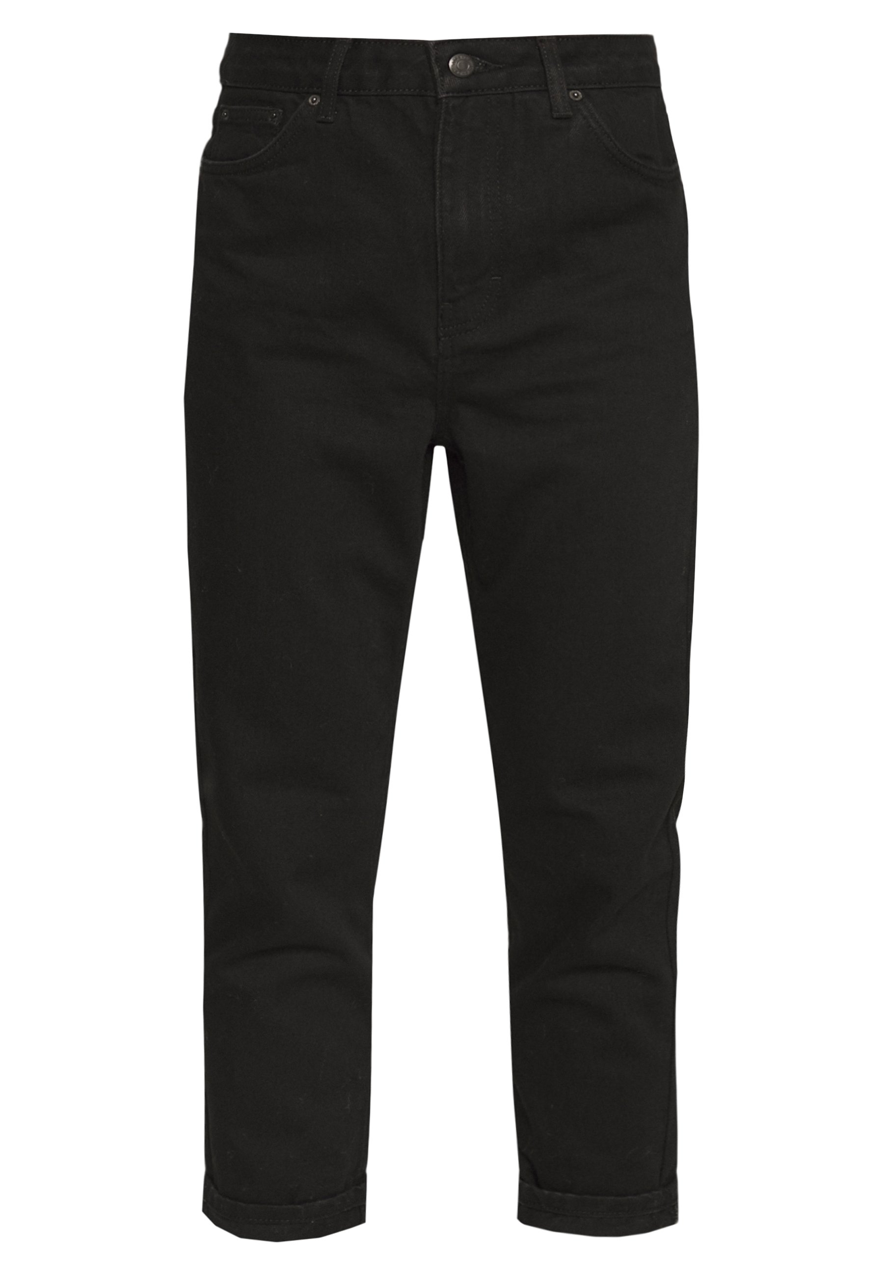 Topshop Petite MOM CLEAN - Jeansy Relaxed Fit - black