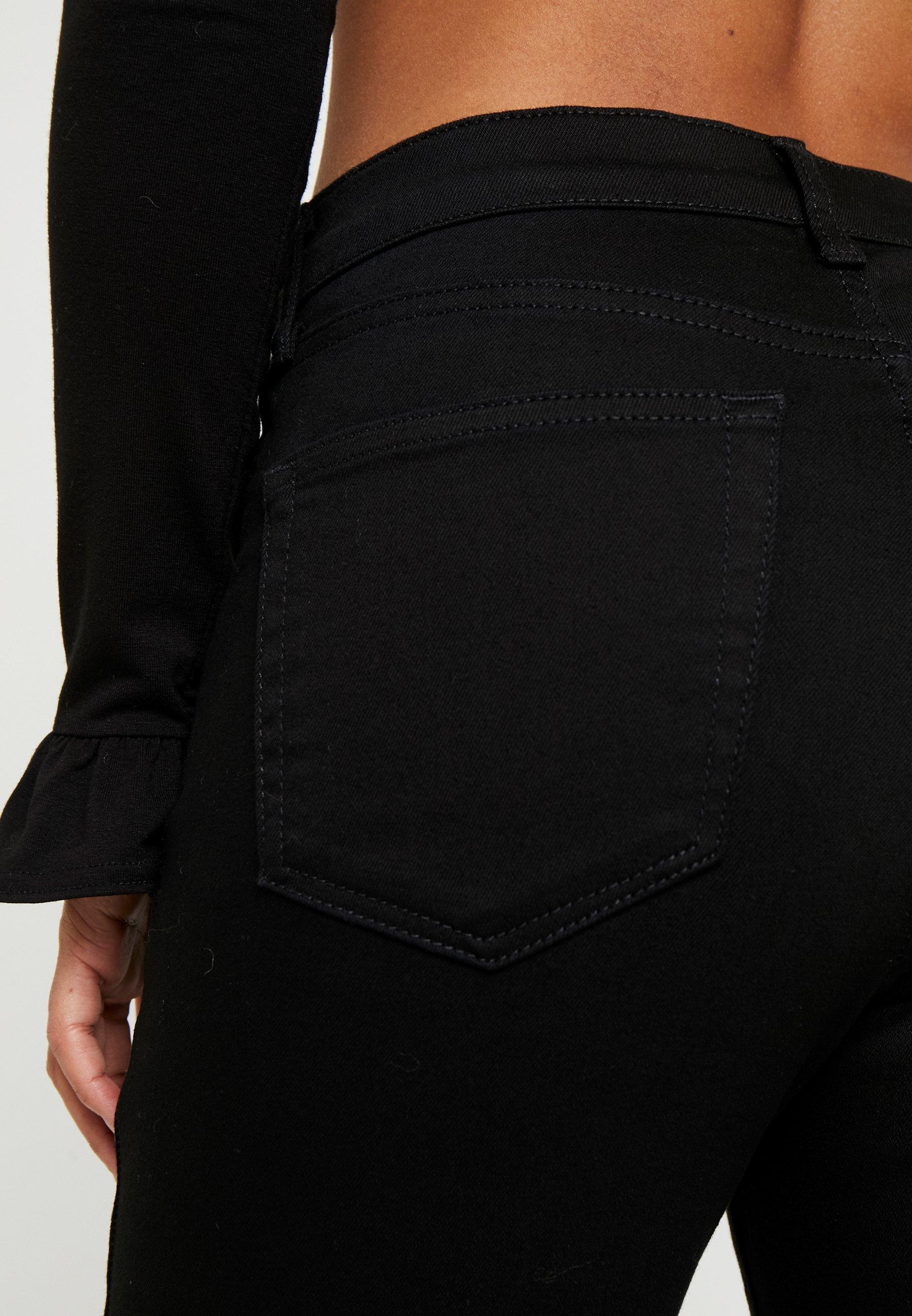 Topshop Petite Jamie - Jeans Skinny Fit Pure Black