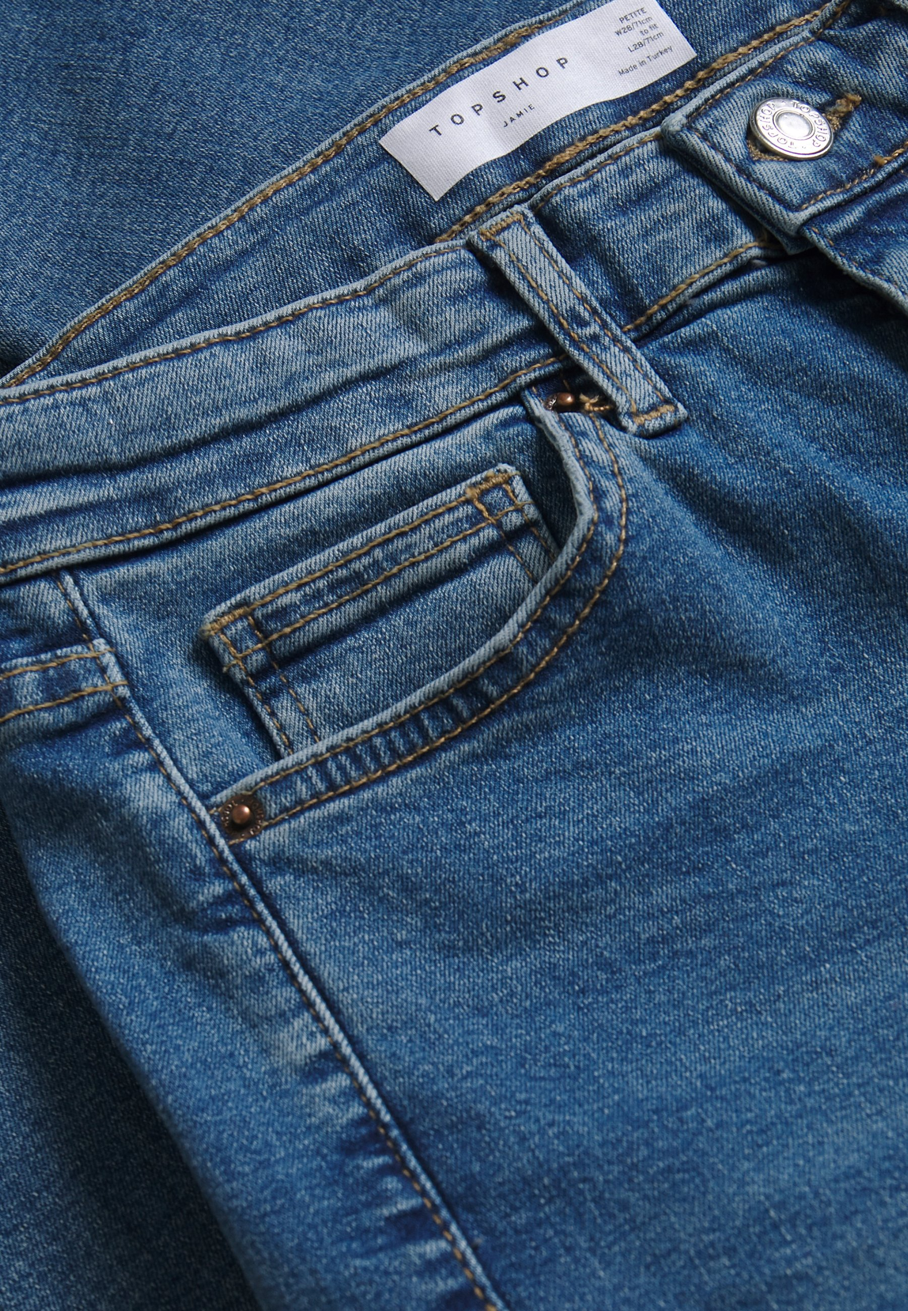 Topshop Petite JAMIE CLEAN - Jeans Skinny Fit - blue denim cV5k3V0x