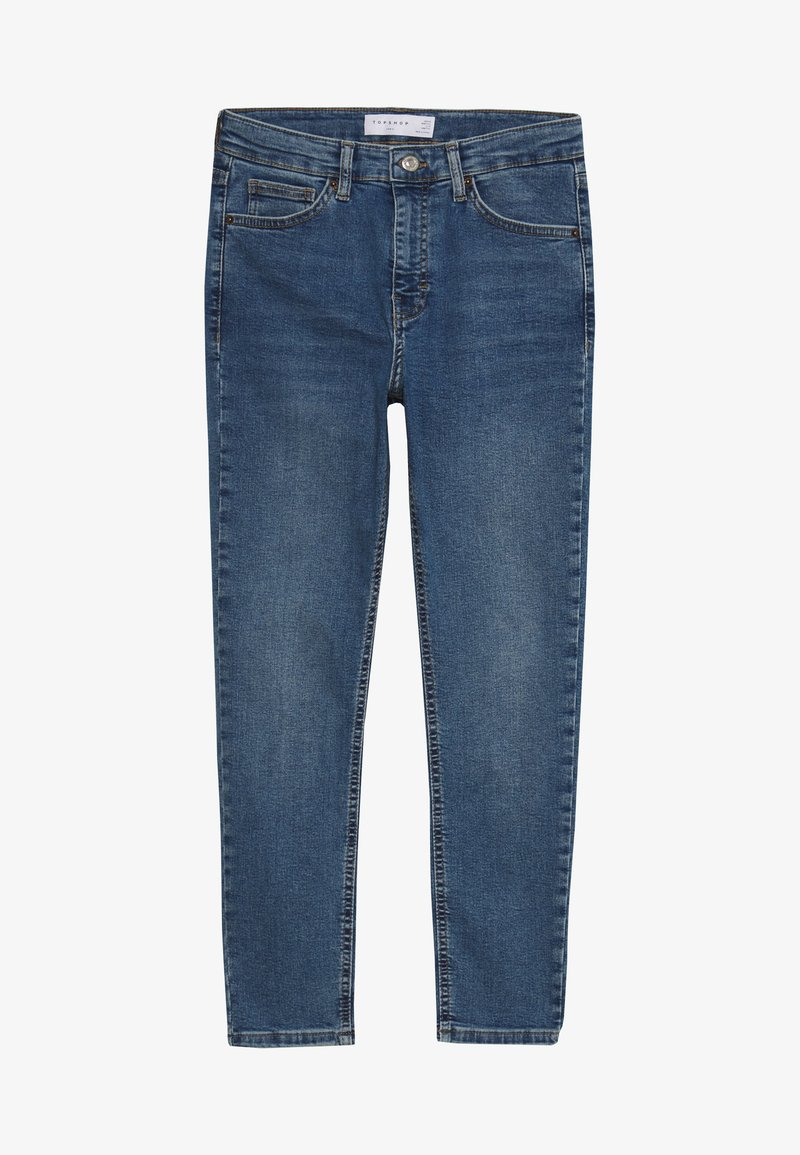 Topshop Petite - JAMIE CLEAN - Jeans Skinny Fit - blue denim