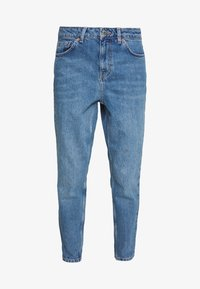 Topshop Petite - MOM CLEAN  - Jeansy Relaxed Fit - blue denim - 4