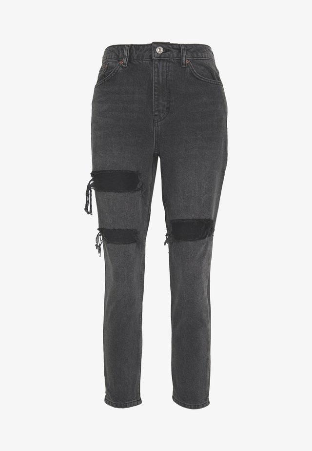 Relaxed fit jeans - washed black
