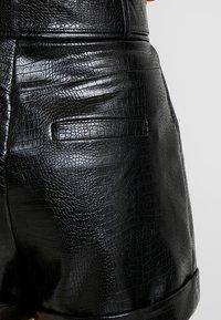 Topshop Petite - CROC - Shortsit - black - 5